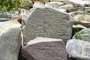Inscriptions ladakhi au Zanskar